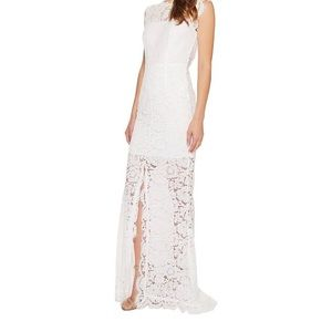 Rachel Zoe Estelle cutout maxi dress in pure white